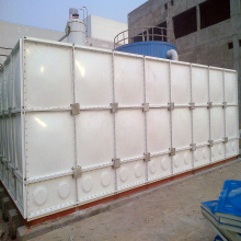 GRP panel type water tank with flanges