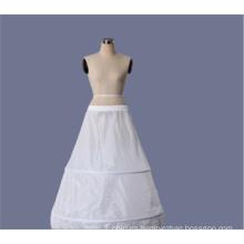El organza al por mayor santifica la enagua nupcial del cordón de la boda de la crinolina blanca