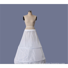 Wholesale organza hallow white crinoline bridal wedding lace petticoat