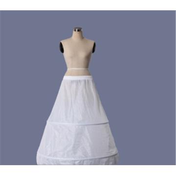 Vente en gros organza hallow crinoline blanche nuptiale jupe en dentelle de mariage