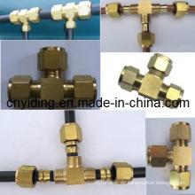 Brass Od Tee Connector für Nebelschleifsysteme (TH-B3005)