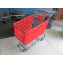 Supermarkt Kunststoff Einkaufswagen zum Verkauf