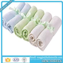 Toalhas de banho Ultra macio Toalhas Sensitive Bebê Pele De Bambu Hypoallergenic Limpe 10x10 polegadas