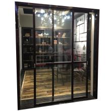 Soundproof design slim frame aluminium profile slide glass door