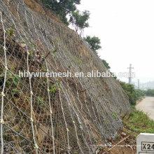 ПВХ покрытием трос сетки предохранения от наклона системы из оцинкованной плетения rockfall