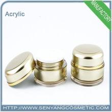 20ml Luxury round acrylic packaging jar acrylic cream jar Round Acrylic Empty Face Cosmetic Cream Jar
