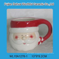 Elegant santa claus shape ceramic tea pot
