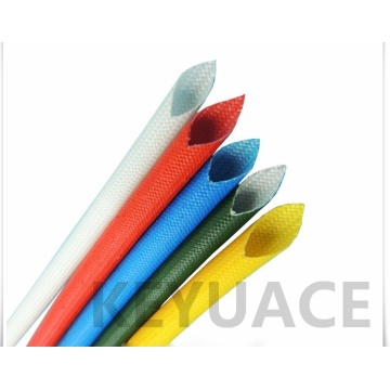 Silicone Coated Fiberglass Braid Sleeve untuk Kabel Isolasi