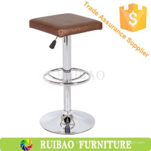 Classic Retro Bar Chair PU Silla giratoria de cuero con reposapiés