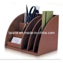 Fashionable Design Faux Leather-Like Desktop Organizer (TW-PB0050)