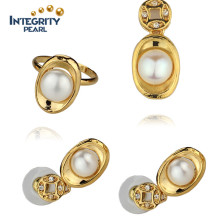 Fashion White Color Pearl Set 8.5-9mm AAA Button Cheap Original Pearl Sets