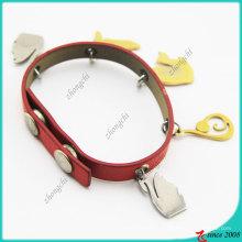 Сплав цинка подвески Красный кожаный Браслет (ЛБ)