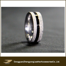 New Stainless Steel Frosted Promise Ring Wedding Bands Size Selectable (ZY-A72)
