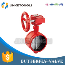 made in china factory directly heating system customized no leak steel PN25 exhaust butterfly valve