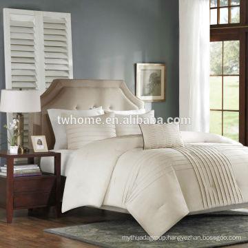 Madison Park Caspia Multi Piece Bedding Cotton Solid Duvet Cover Set