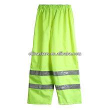 Pantalon de pluie réfléchissant EN471 à haute visibilité