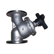 Valve d'équilibrage hydraulique en acier inoxydable DN20