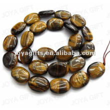 12x16mm natural tigereye pedra plana oval beads