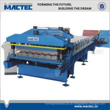 Top qualidade telha ondulada telha fria rolo dá forma à máquina