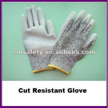Grey PU Palm Coated Cut Resistant Glove/Anti Cut Glove ZMR426