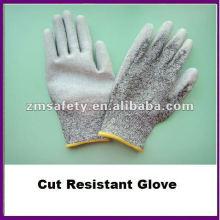 Серый PU покрытием ладони вырезать стойкие перчатки/Анти-вырезать перчатки ZMR426