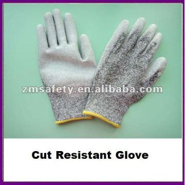 Gant résistant aux coupures recouvert de paume PU gris / Gant anti-coupure ZMR426