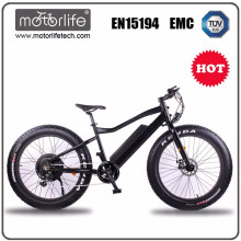Motorlife / electric bicycle 2017 hot 48V lithium battery fat tire ebike