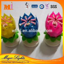 Sparkler Lotus flower shape candle for sale