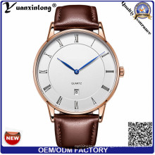 Yxl-309 Dw Style Simple Design Mode Business Quartz Mens Femmes Montre Ceinture en cuir Date Business Montres