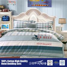 Fábrica de fornecedor de ouro diretamente vendendo beddings impresso crianças consolador conjunto de cama de algodão
