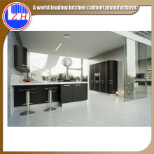 Black Custom L-Shaped Paint Colors Kitchen Cabinets