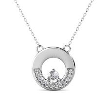 Destiny Jewellery 2021 Fine Jewelry 925 Sterling Silver Gra Moissanite Diamond Round Pendant Necklace for Women