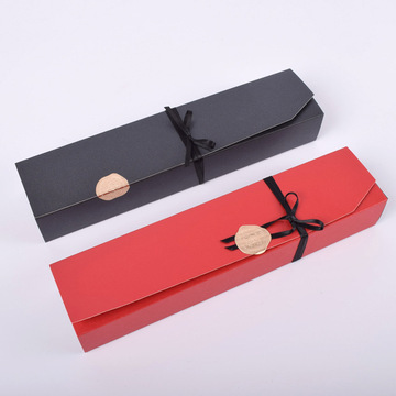 Black Rectangle Chocolate Paper Box Dessert Packaging Box