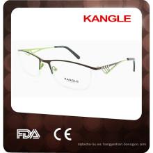2017 nuevos marcos ópticos del metal de la forma moderna del eyeshape, nuevas lentes