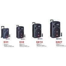 "8 '' 10 ""12"" 15 """" Portable portátil al aire libre sin hilos Bluetooth batería recargable Guitarra PA altavoz con USB MP3 6814 Series"