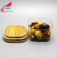 Wholesale glass square storage jar for tea packing Storage-140RL