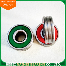 Green Plastic Seal Bearing 608-2RS with Double Grooves