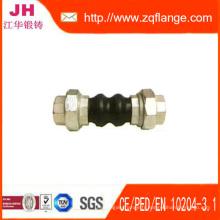 Bride en acier au carbone Jaune DIN2502 Pn16 et Joint en caoutchouc