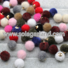 16MM Mink Fur Ball Pompom Pom Ball Charm Pendants