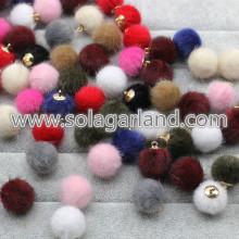 16MM visone pelliccia palla pompon Pom Ball ciondoli Charm