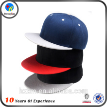 hot sale custom plain blank flat brim cap snapback