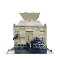 Vertical shaft double axle concrete mixer