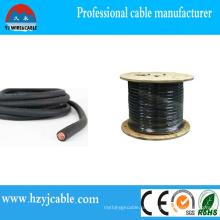 Cabo de cobre flexível do isolador da borracha / do PVC do condutor de cobre
