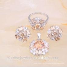 2018 conjunto de jóias de imitação indiana imitação de jóias de exportação de ródio jóias banhado é a sua boa escolha