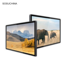 Publicidad de pantalla táctil LCD de pared delgada