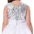 Grace Karin New Arrival Sleeveless Ball Gown Sequins Voile Flower Girl Dresses 12 Year Girl Dress CL007596-2