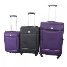 Shiny Upright  Wheeled Trolley Suitcase Luggage Set