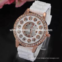 De alta calidad pashmina baratos relojes personalizados de silicona