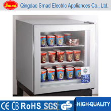 Glass Display Freezer for Supermarket Countertop Display Freezer