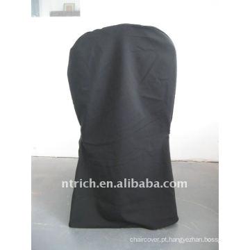 cor preta banquete padrão cadeira capa, material de poliéster CTV562, durável e fácil lavável